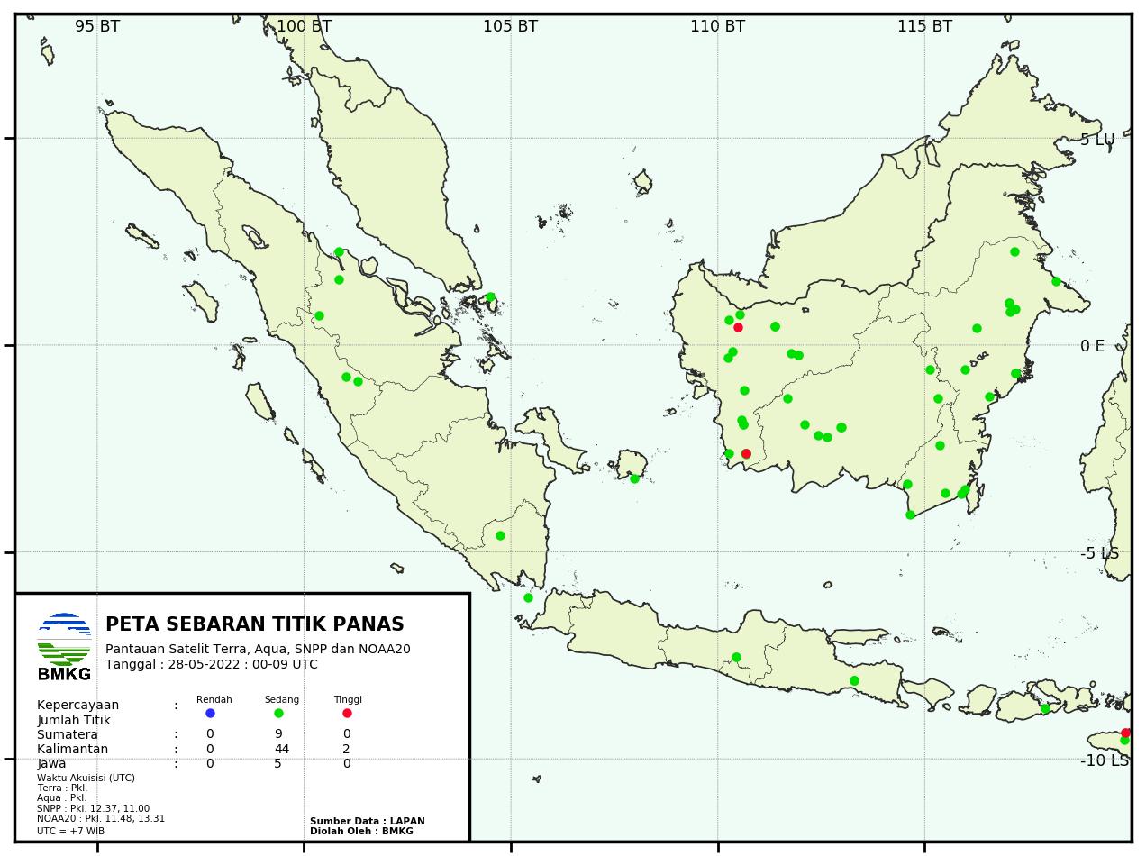 Hotspot Indonesia Bagian Barat