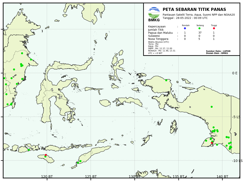 Hotspot Indonesia Bagian Timur
